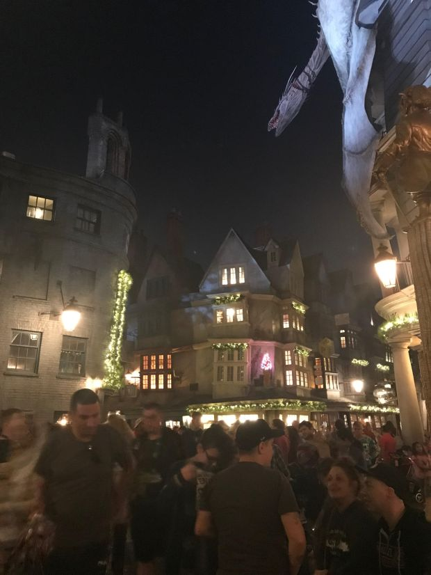 Diagon Alley transformed into magic
