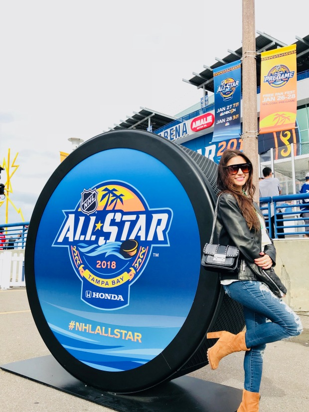 NHL All Star event with fashion pieces and clothing