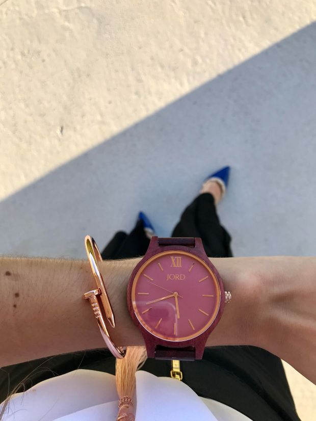 Unique ladies' wooden watch for Spring