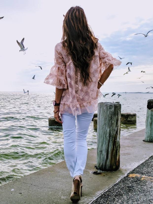 feminine lace blouses for summer