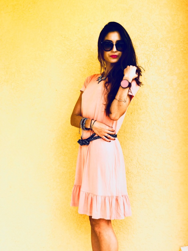 Pink ruffle dress for Spring fashion