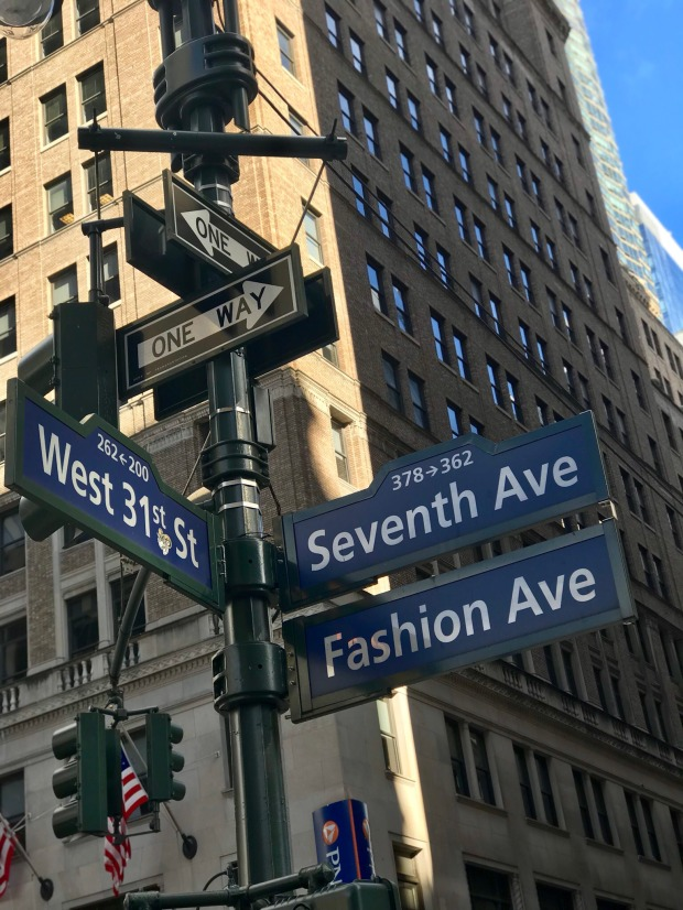Fashion Ave Street Sign in NYC