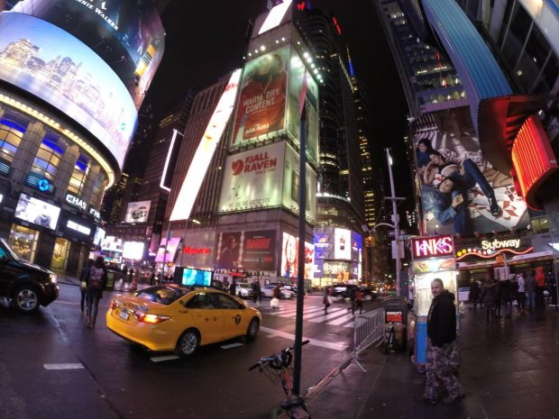 Times Square 360 photo at night